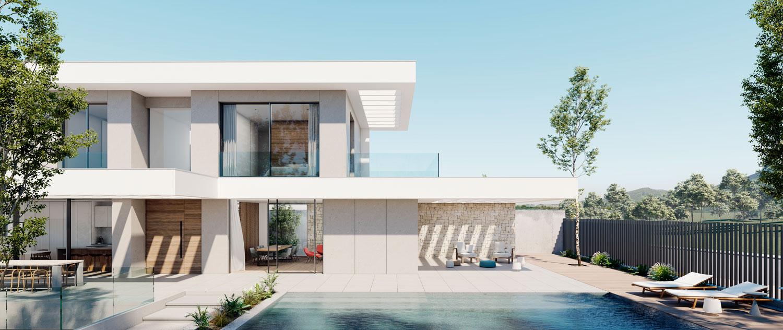 arquitectura_fachada_piscina_piedra_pergola_estuco